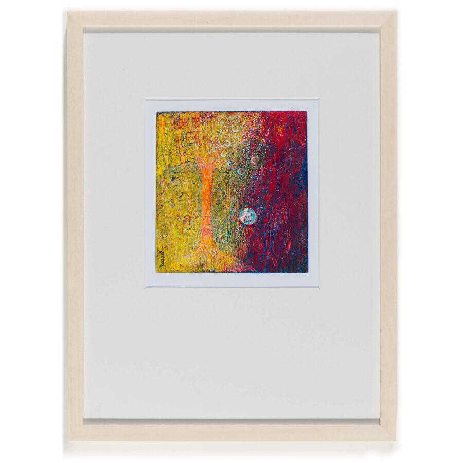 Dazze Kammerl: ohne Titel/ Mischtechnik auf Papier/ 32 x 25 cm / 2019