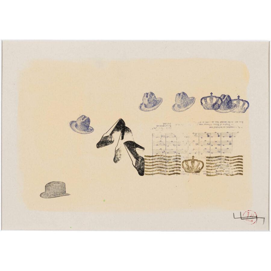 Leda Luss-Luyken: Begegnung / Mischtechnik auf Papier / ca. 30 x 25 cm / 2002